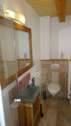 Location de vacances - Appartement à Saint-Chaffrey - La salle de bain de la 3e chambre