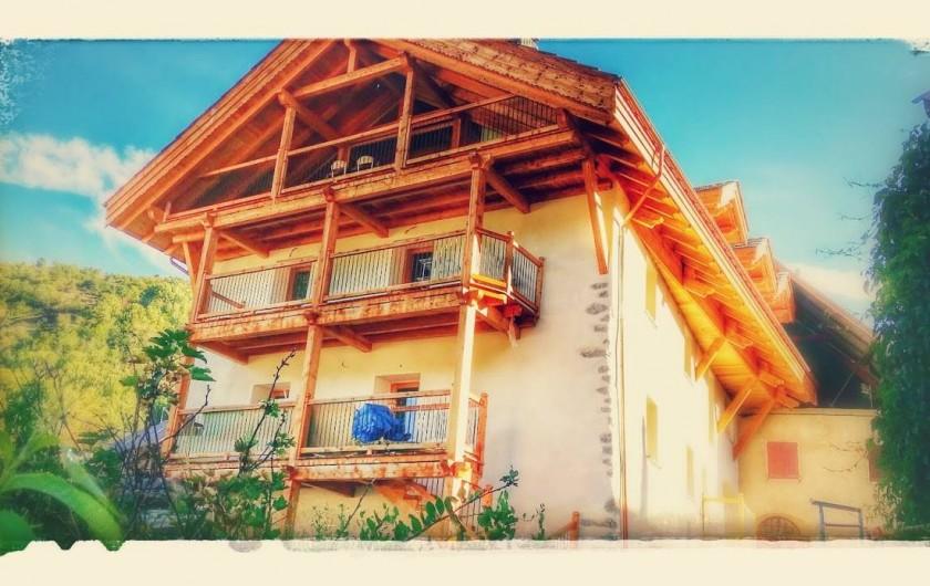 Location de vacances - Appartement à Saint-Chaffrey - Demeure l'Ecrin avec 4 logements Ardoise, Rubis, Opale et Lauze