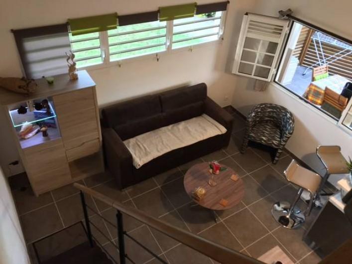 Location de vacances - Studio à Les Trois-Îlets - Vue de la mezzanine
