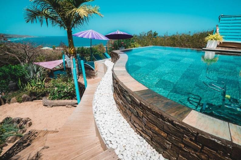 Location de vacances - Studio à Saint-Leu - la piscine en ardoise
