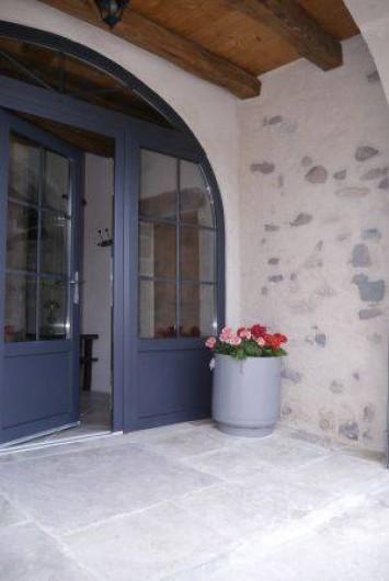 Location de vacances - Gîte à La Rosière - entrée par l'ancien chari