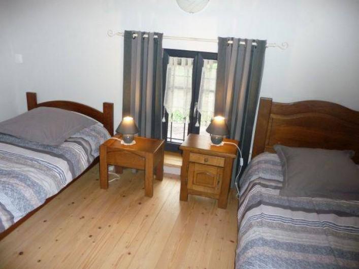 Location de vacances - Gîte à La Rosière - chambre étage deux lits