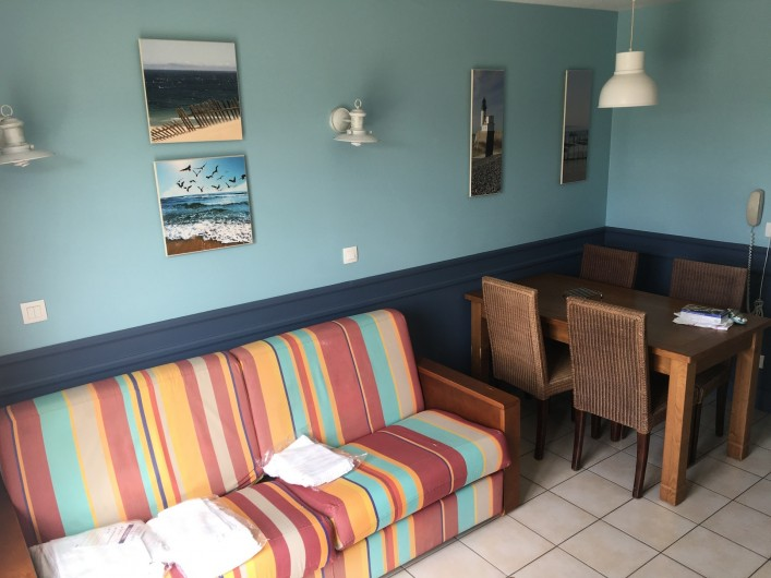 Location de vacances - Villa à Quend Plage - canapé lit 2 places