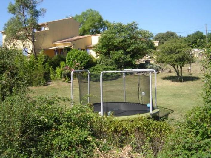 Location de vacances - Villa à Saint-Julien-de-Cassagnas - Le trampoline