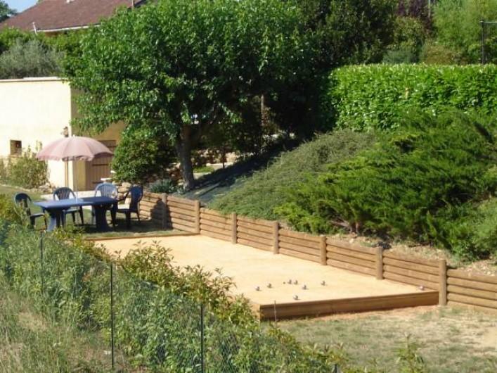 Location de vacances - Villa à Saint-Julien-de-Cassagnas - Le terrain de boules