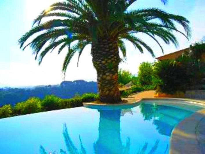 Location de vacances - Studio à Cagnes-sur-Mer - Vue piscine à côté du studio Francy