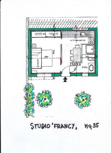 Location de vacances - Studio à Cagnes-sur-Mer - Plan du studio Francy