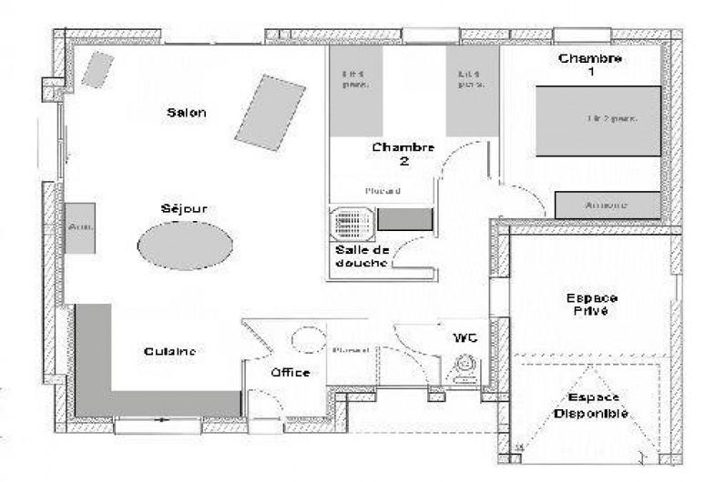 Location de vacances - Villa à Saint-Briac-sur-Mer - Le plan de la maison ...