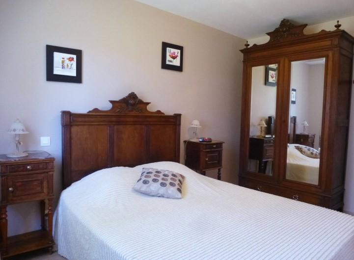 Location de vacances - Villa à Saint-Briac-sur-Mer - La chambre principale (lit : 160x200 )