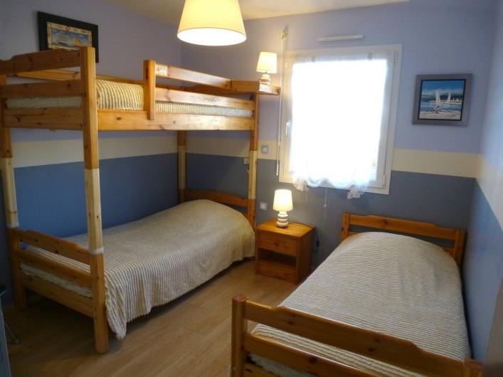 Location de vacances - Villa à Saint-Briac-sur-Mer - Chambre 2 (lits : 90x190 )
