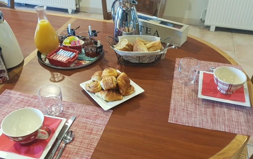 Location de vacances - Chambre d'hôtes à Cubnezais - Petit déjeuner