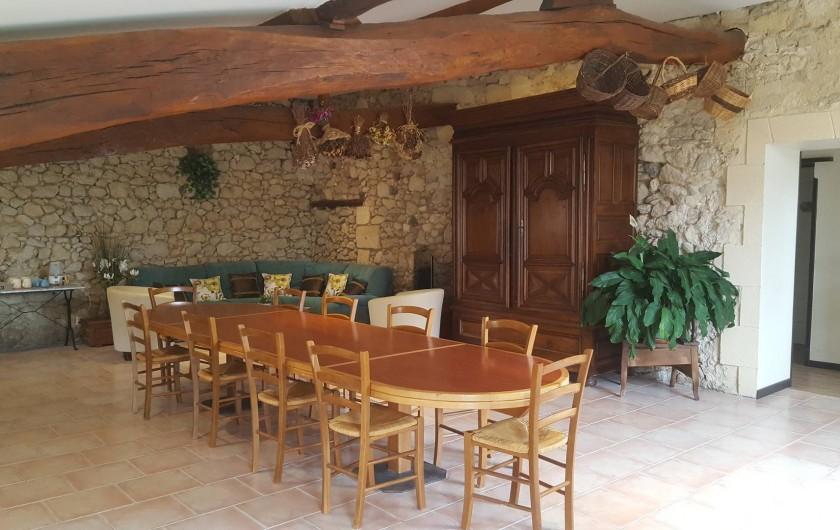 Location de vacances - Chambre d'hôtes à Cubnezais - Salle à manger