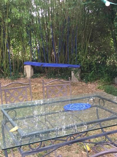Location de vacances - Gîte à Saint-Rabier - Jardin et Terrasse privative , bleu Majorelle