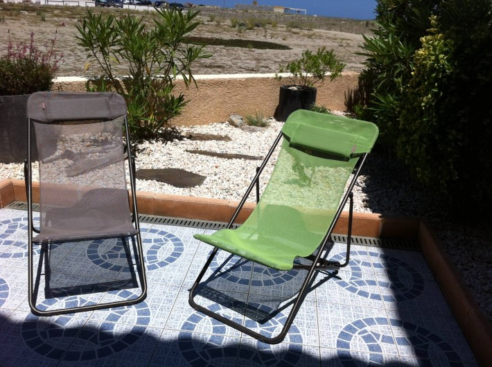 Location de vacances - Villa à Le Barcarès - Chiliennes sur la terrasse