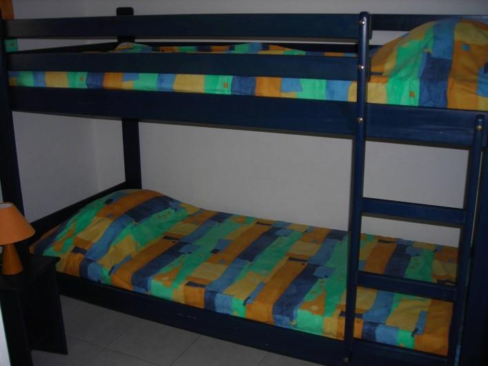 Location de vacances - Villa à Le Barcarès - Chambre lits superposés