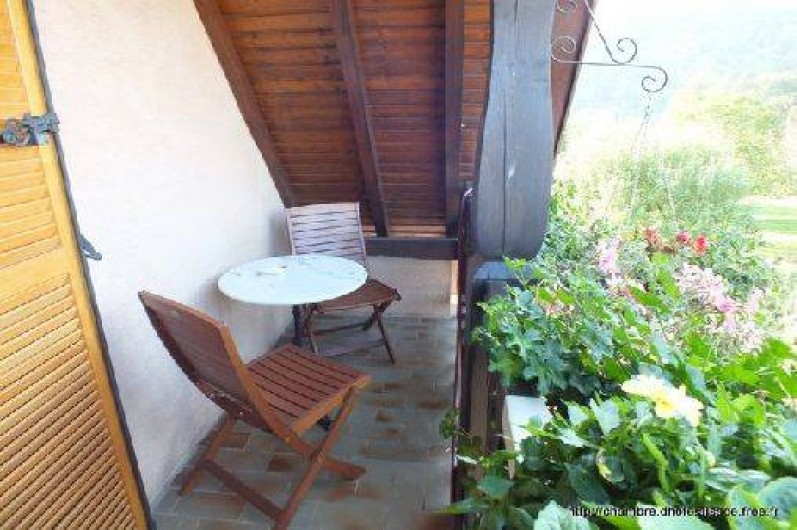Location de vacances - Chambre d'hôtes à Soultzbach-les-Bains - Balcon mirabelle