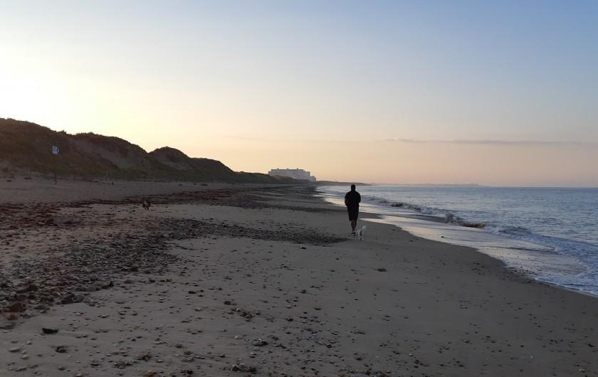 Location de vacances - Appartement à Saint-Hilaire-de-Riez - Notre plage, pêche à la ligne et à la crevette.