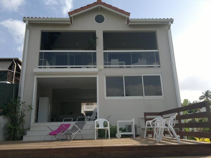 Location de vacances - Maison - Villa à Les Trois-Îlets - maison vue du deck
