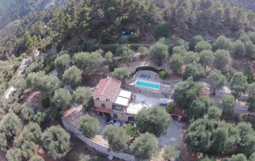 Location de vacances - Villa à Breil-sur-Roya - vue aerienne