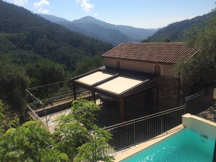 Location de vacances - Villa à Breil-sur-Roya - vue piscine