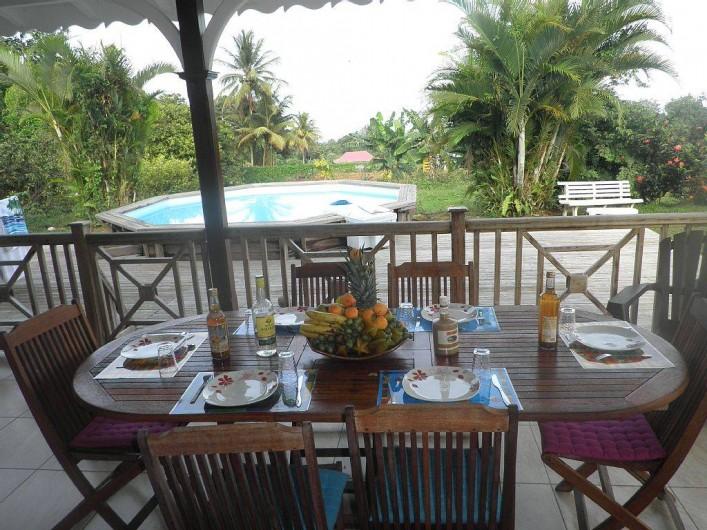 Location de vacances - Villa à Capesterre Belle Eau - Terrasse