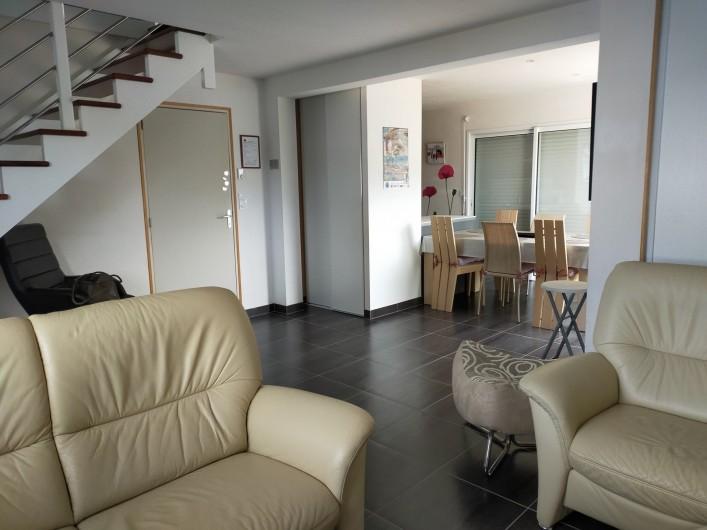 Location de vacances - Maison - Villa à Plouharnel - chambre étage lit 90