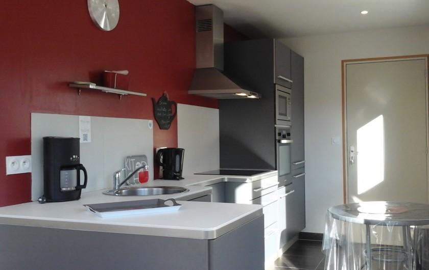 Location de vacances - Maison - Villa à Plouharnel - cuisine américaine