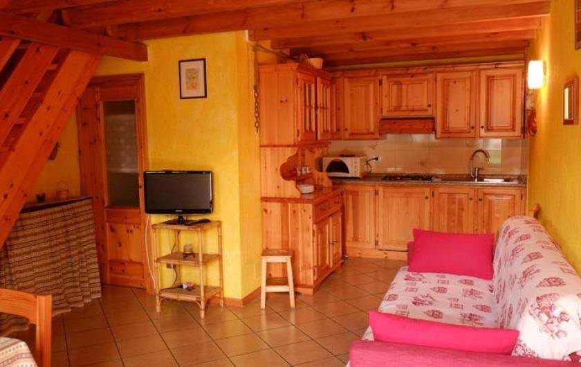 Location de vacances - Appartement à Saint-Nicolas - Coin cuisine/sejour