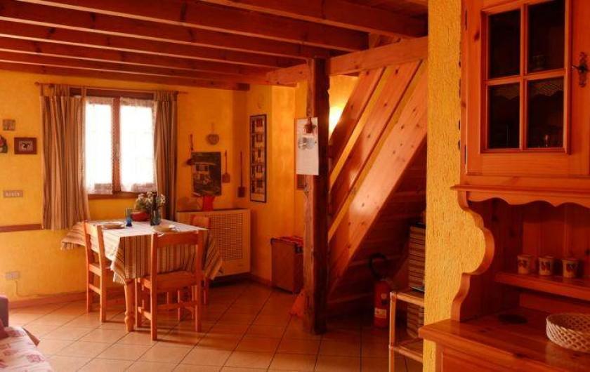 Location de vacances - Appartement à Saint-Nicolas - Salle a manger