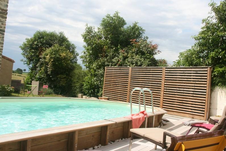 Location de vacances - Gîte à Château-Guibert - Piscine du gîte