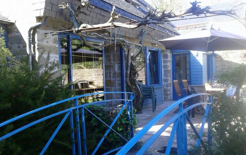 Location de vacances - Maison - Villa à Audierne - Coté jardin/terrasse