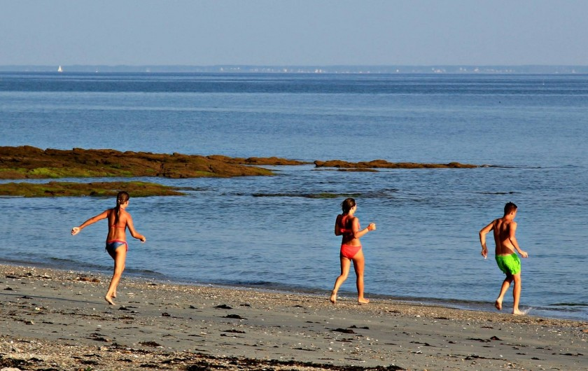 Location de vacances - Camping à Sarzeau - Plage du Roaliguen à 800 mètres du camping de Lann Hoedic