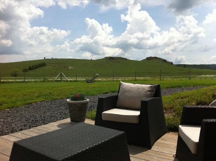 Location de vacances - Chambre d'hôtes à Nasbinals - Terrasse Marchastel