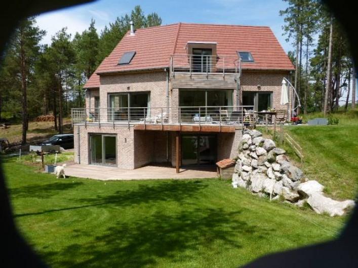 Location de vacances - Appartement à Hardelot-Plage - la florentine vue du golf des dunes le gîte est au niveau du jardin