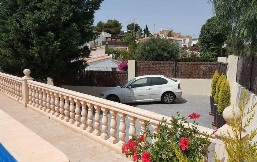 Location de vacances - Villa à Cap de la Nao - Parking