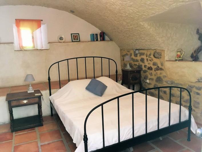 Location de vacances - Gîte à Branoux-les-Taillades - Les Tilleuls (5 pers); chambre double  (lit 160 x 200cm)