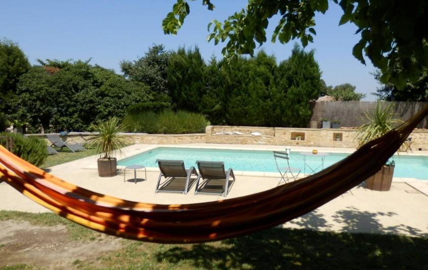 Location de vacances - Mas à Saint-Victor-la-Coste - Espace Piscine