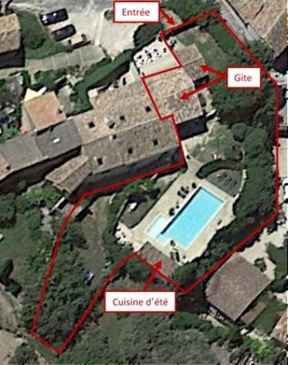 Location de vacances - Mas à Saint-Victor-la-Coste - Vue d'ensemble