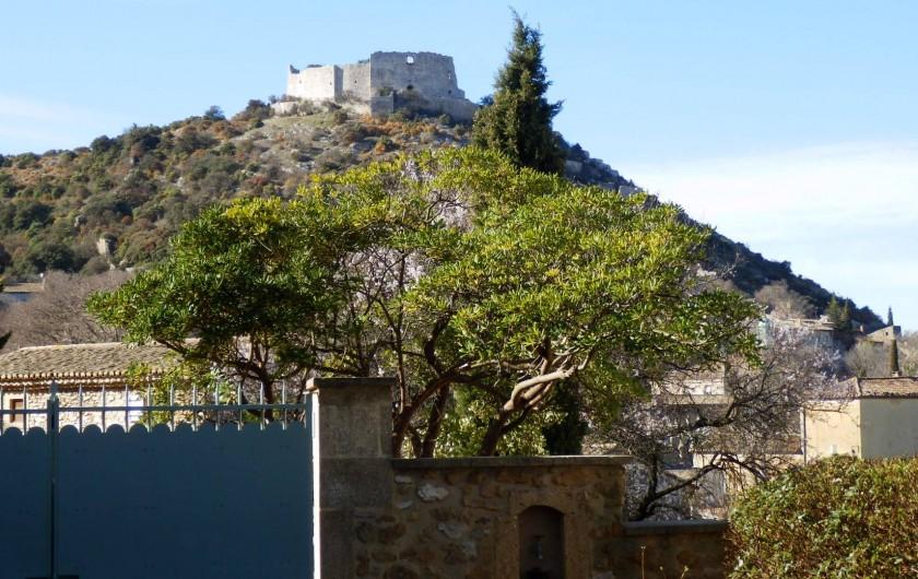 Location de vacances - Mas à Saint-Victor-la-Coste - Vue sur le Castellas