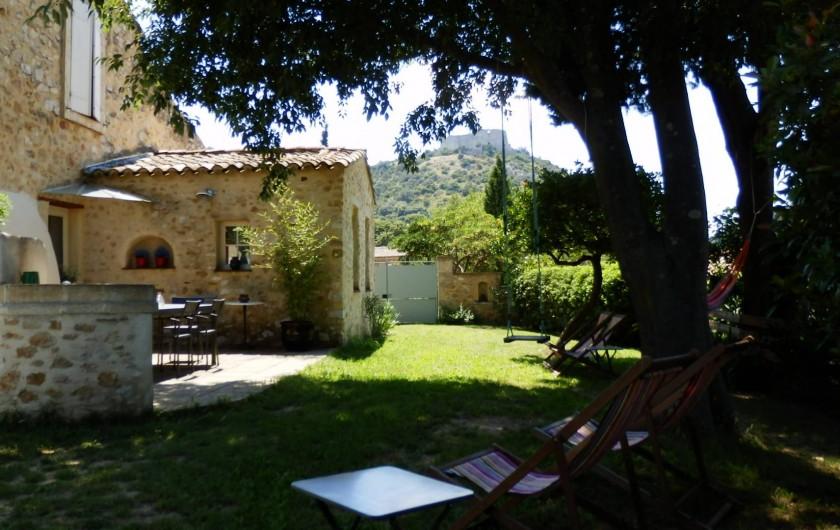 Location de vacances - Mas à Saint-Victor-la-Coste - Jardin privatif