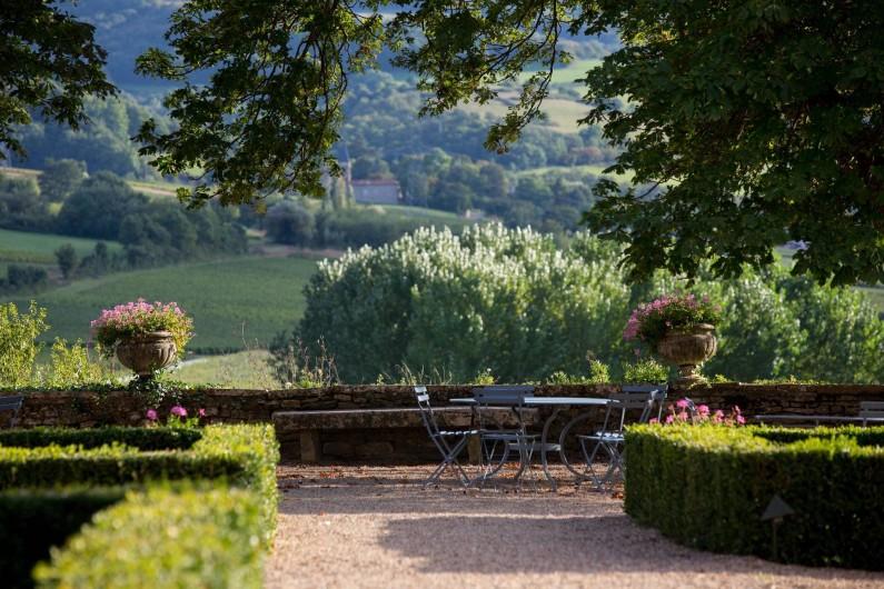 Location de vacances - Chambre d'hôtes à Pierreclos - Terrasse sud