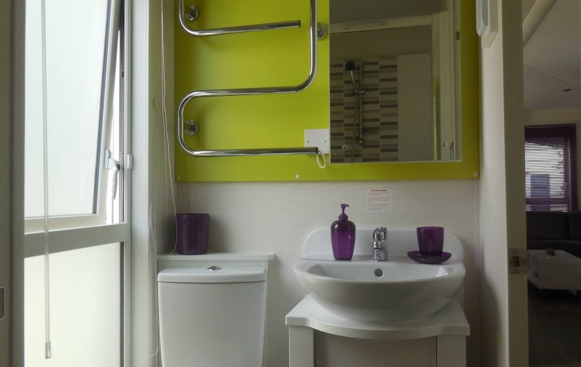 Location de vacances - Bungalow - Mobilhome à Grimaud - salle de douche