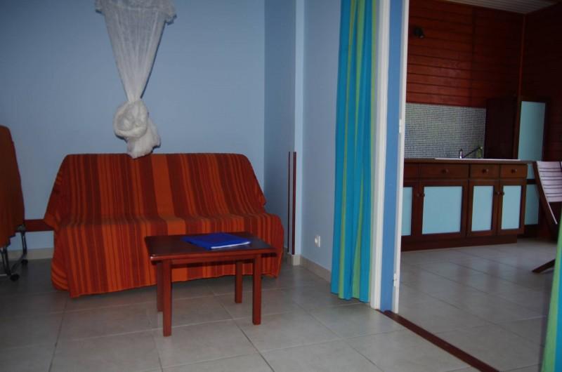 Location de vacances - Bungalow - Mobilhome à Deshaies - Salon du gite Indigo