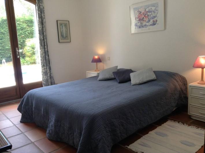 Location de vacances - Villa à Saint-Aygulf - Chambre 1 rez donnant sur piscine