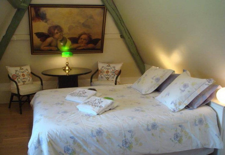Location de vacances - Gîte à Saint-Pierre-Azif - Chaumière Etage - Chambre_2 Vent d'Ouest