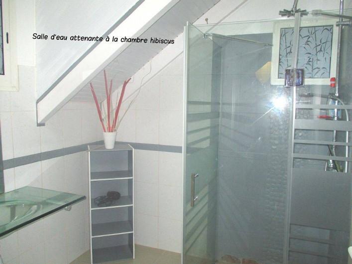 Location de vacances - Villa à Vieux Fort - salle d'eau de l a chambre Hibiscus