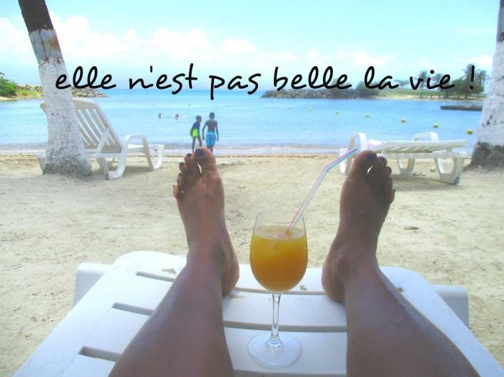 Location de vacances - Villa à Vieux Fort - apéro sur une des plages de la guadeloupe