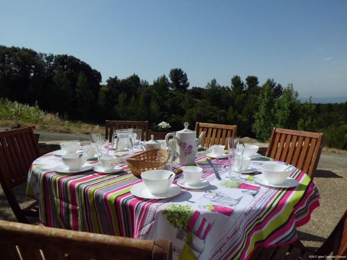 Location de vacances - Gîte à La Livinière - La terrasse