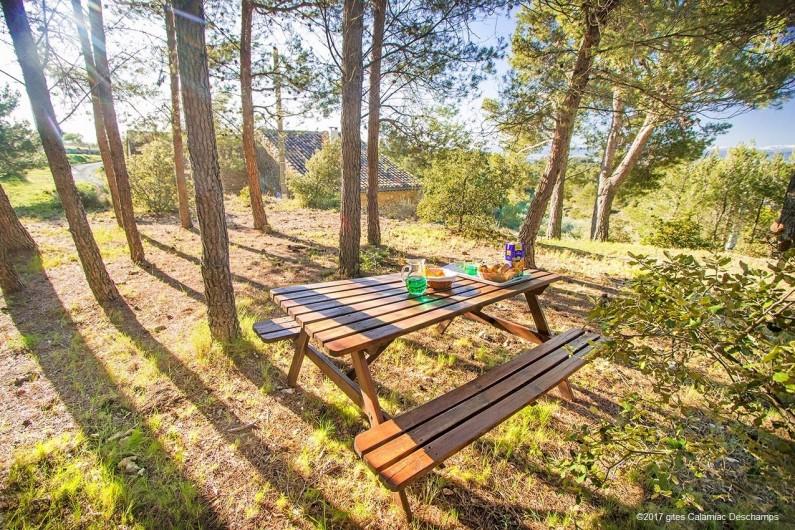 Location de vacances - Gîte à La Livinière - Goûter dans le bois de pin