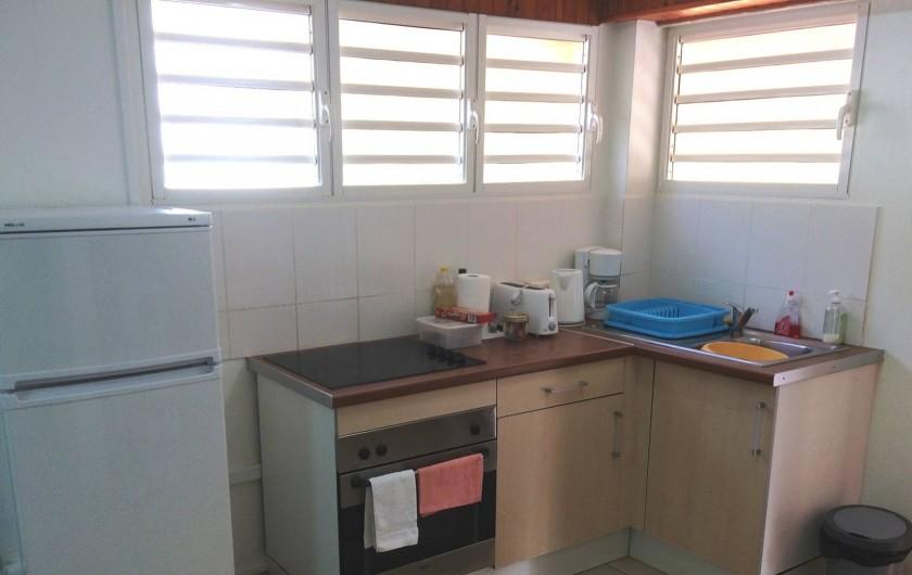Location de vacances - Studio à Le Vauclin - Résidence Macabou - Cuisine du T2